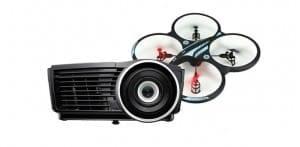 Vivitek H1188 3D Full HD -kotiteatteriprojektori + kuvaushelikopteri